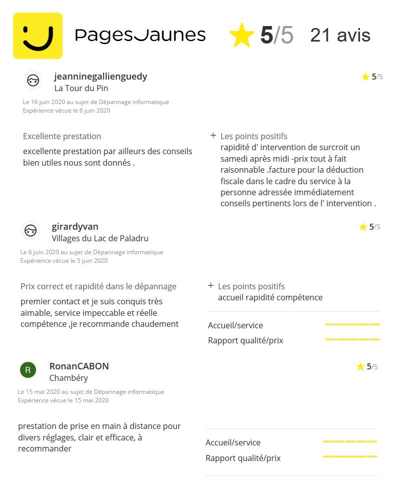avis pages jaunes klink pc assistance depannage informatique la tour du pin 38 isere